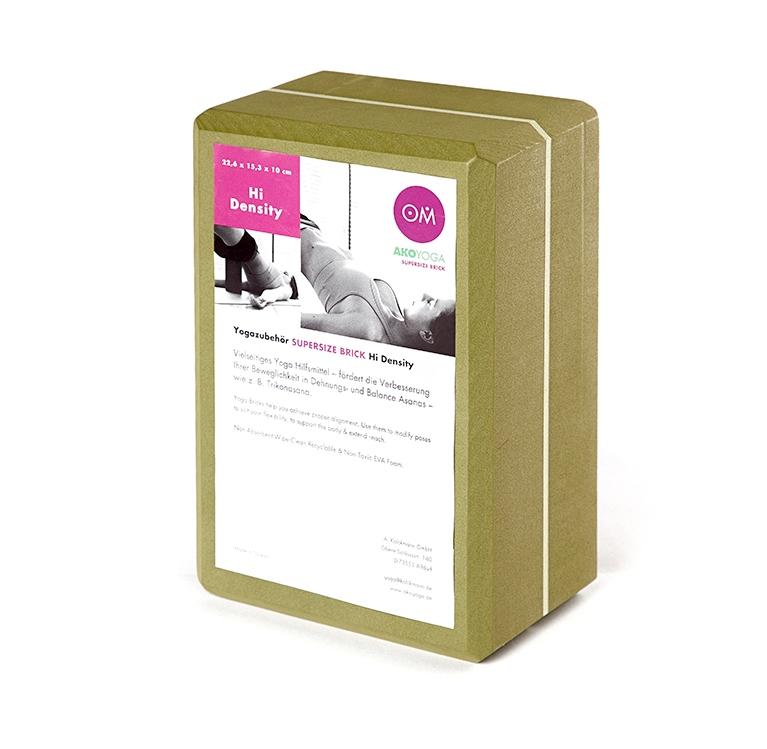 Кирпич для йоги из EVA-пены Yoga brick Supersize (0,45 кг, 10 см, 23 см, зеленый, 15 см) кирпич для йоги из eva пены yoga brick 7 см 22 см красный 11 см
