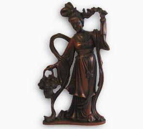 Статуя Гуанинь с корзинкой 23 см