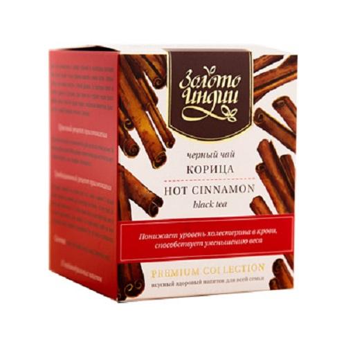 Чай черный даржилинг с корицей в пакетиках Золото Индии (3г*15пакетиков)