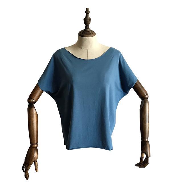 Футболка для йоги женская Free Рамайога (0,3 кг, OS (42-46), голубой) футболка для йоги женская free рамайога ramayoga голубой 0 3 кг 42 46