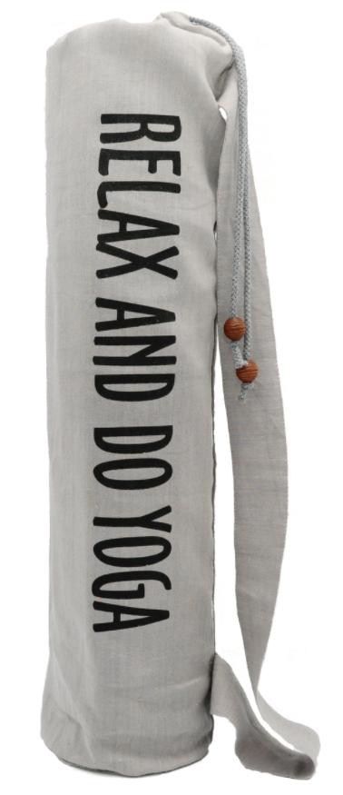 Чехол для коврика Do Yoga льняной (15 см, 70 см, серый)