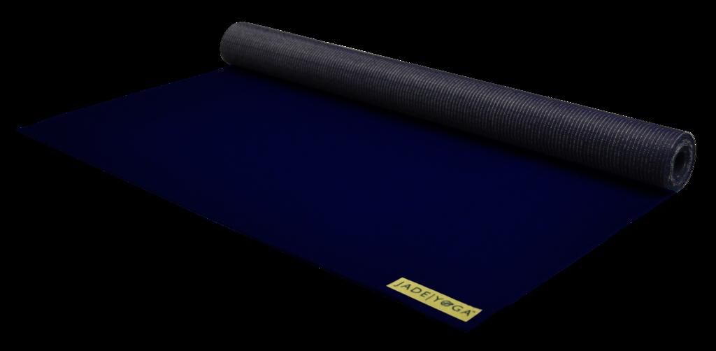 Фото - Коврик для йоги Jade Voyager 1.5 мм из каучука (0,7 кг, 173 см, 1.5 мм, темно-синий, 60см) коврик тренировочный reebok yoga mat crosses hi цвет черный толщина 4 мм длина 173 см