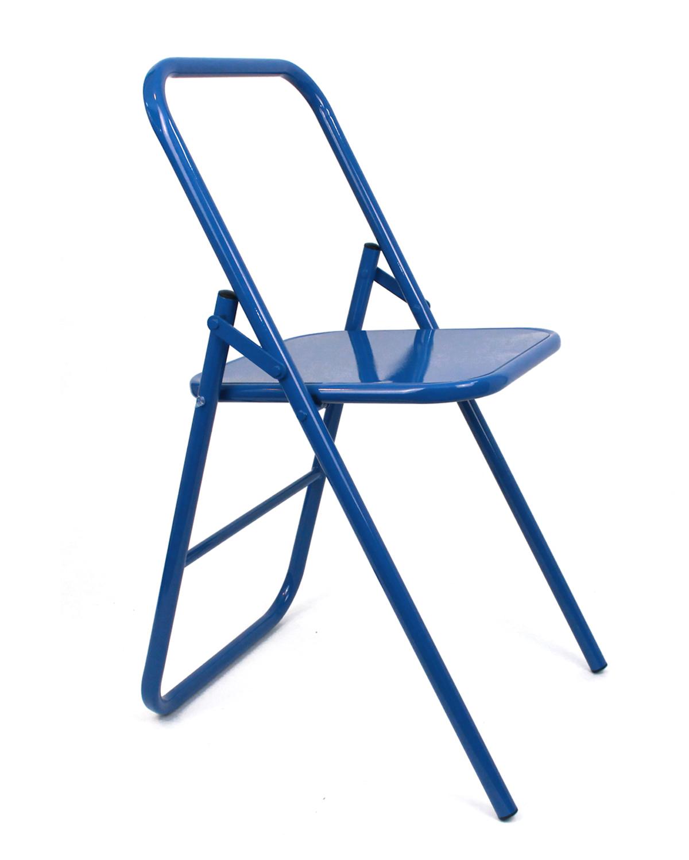 Стул для занятий йогой разной высоты (7 кг, 41 см, синий)