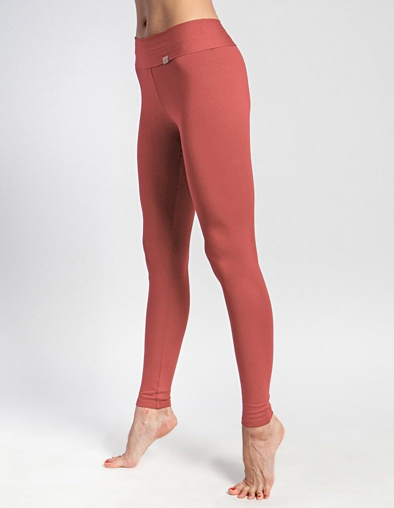 Лосины женские длинные YogaDress (0,3 кг, S (44), оранжевый / розовый кедр)
