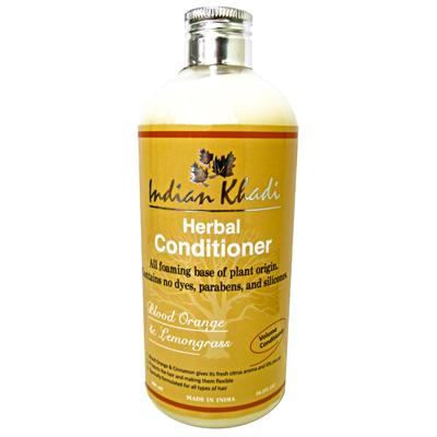 Кондиционер для волос апельсин и лимонник Indian Khadi (300 мл) кондиционер для волос черная ваниль и мед indian khadi 300 мл