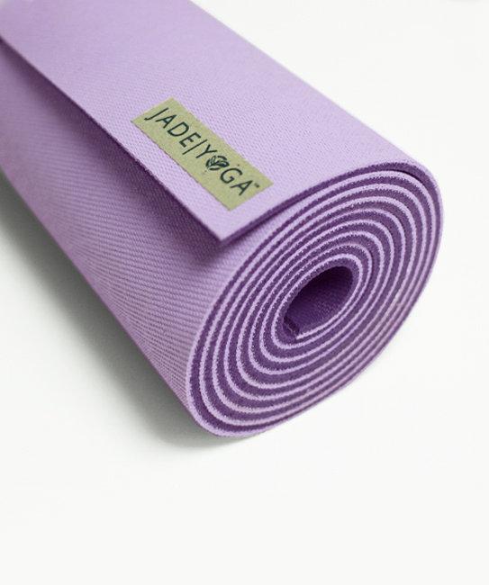 Коврик для йоги Jade Harmony 5 мм из каучука (2,3 кг, 180 см, 5 мм, фиолетовый / lavender, 60см) джинсы скинни с вышивкой 3 12 лет