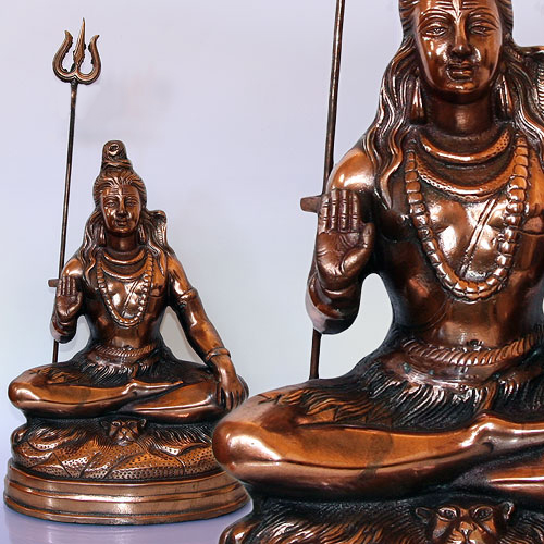 Статуя Шива из силумина 38см (2 кг)