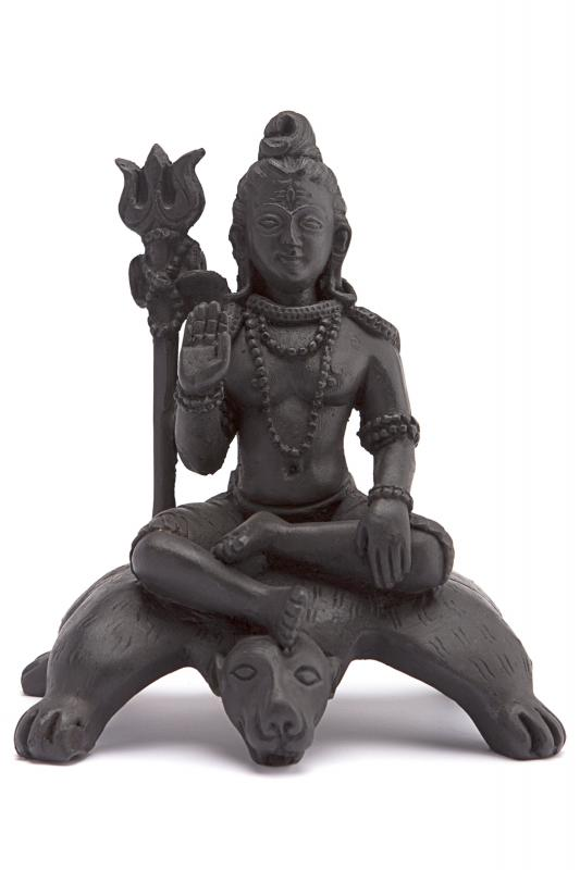 Статуя Шива сидящий на медведе из керамики 17см (Статуя 17 см. 090142)