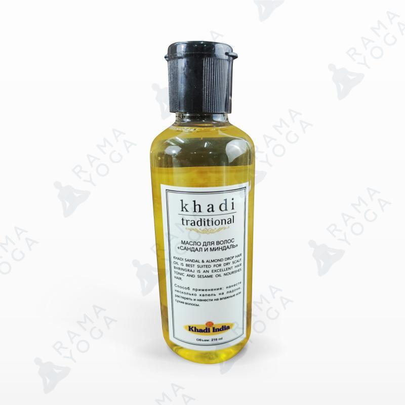 Масло для волос Сандал и миндаль Khadi Traditional (210 мл) масло