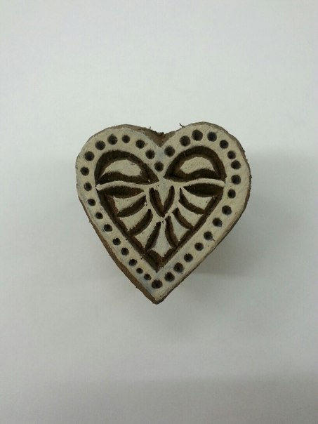 Печать трафарет Сердце для татуировки хной 3 см (сердечко)