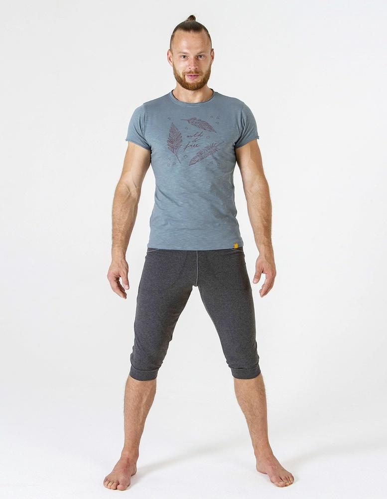 Футболка мужская Wild & Free YogaDress (0,3 кг, L (50), серый)