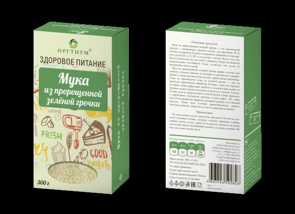 Мука из пророщенной зеленой гречки, ОРГТИУМ (300 г) недорого
