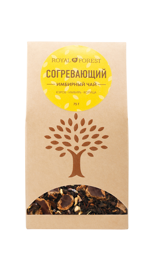 Чай черный согревающий с имбирем и корицей Royal Forest (75 г)