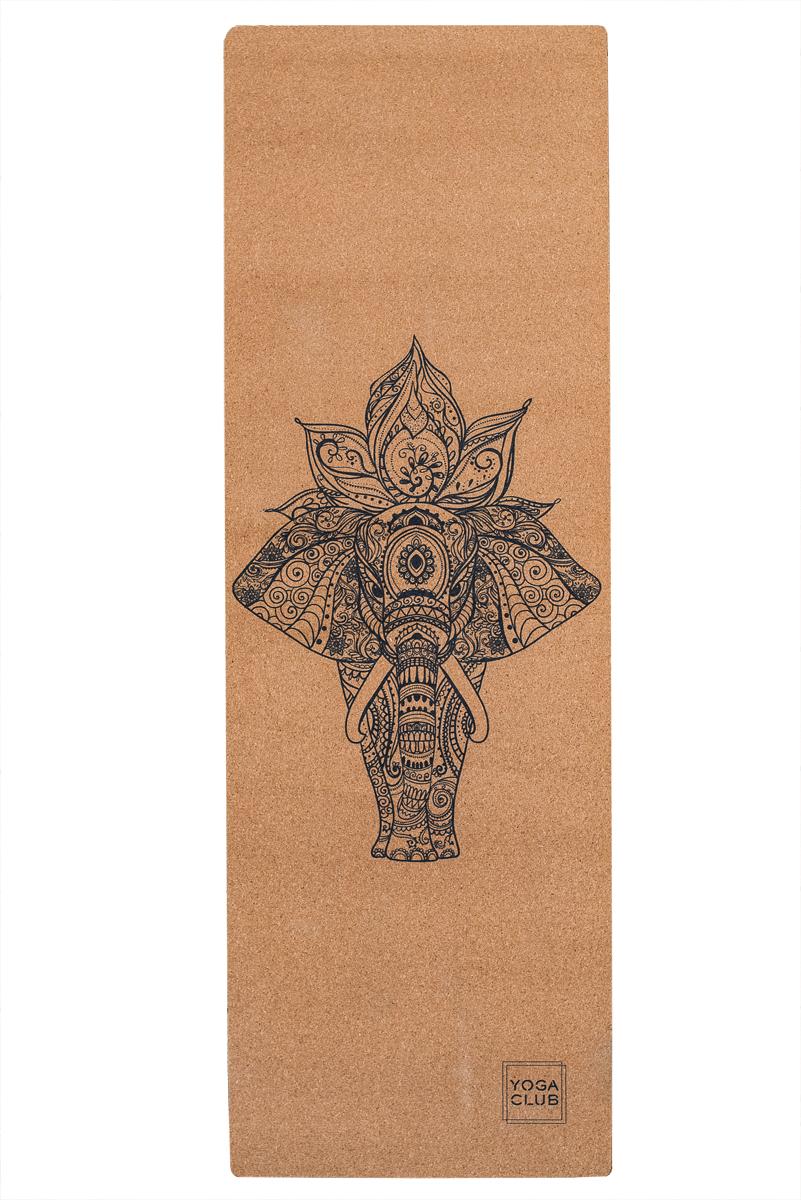 Коврик йоги Elefant YC и каучука (2.5 кг, 185 см, 3 мм, бежевый, 60см)