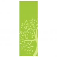 Коврик для йоги Дерево DY (1 кг, 185 см, 4 мм, зеленый, 61см)