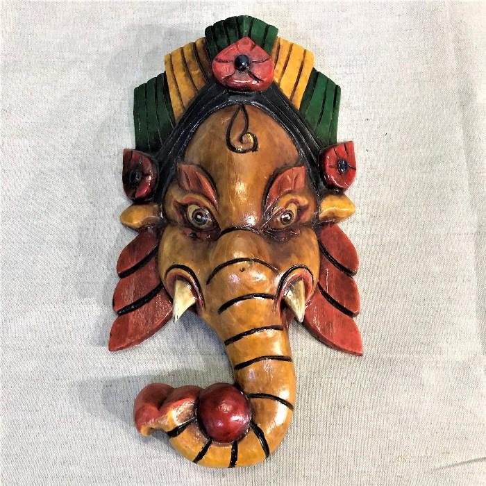 Ганеш непальская маска из дерева (0,4 кг, 30 см)