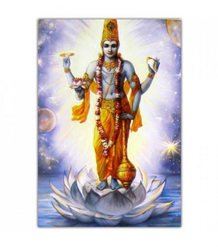 Индийское божество синий фон наклейка 6х9см (Индийское божество синий фон наклейка 6х9см) наклейка