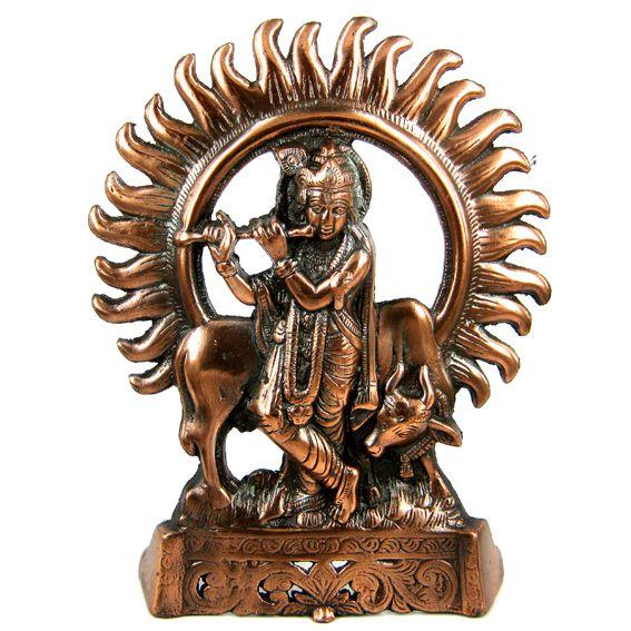 Панно из силумина Кришна 27см ( RamaYoga 0,3 кг ) панно из силумина ганеш на листе 29см