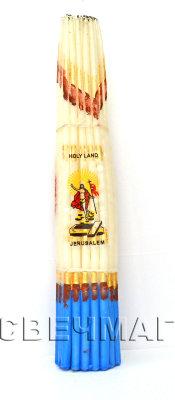 Свеча иерусалимская белая парафиновая (белый)