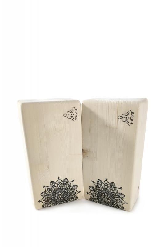 Кирпич для йоги Mandala 2 (1 кг, 8 см, 23 см, бежевый, 11 см) кирпич для йоги полукруглый деревянный лак 1 кг 7 см 23 см