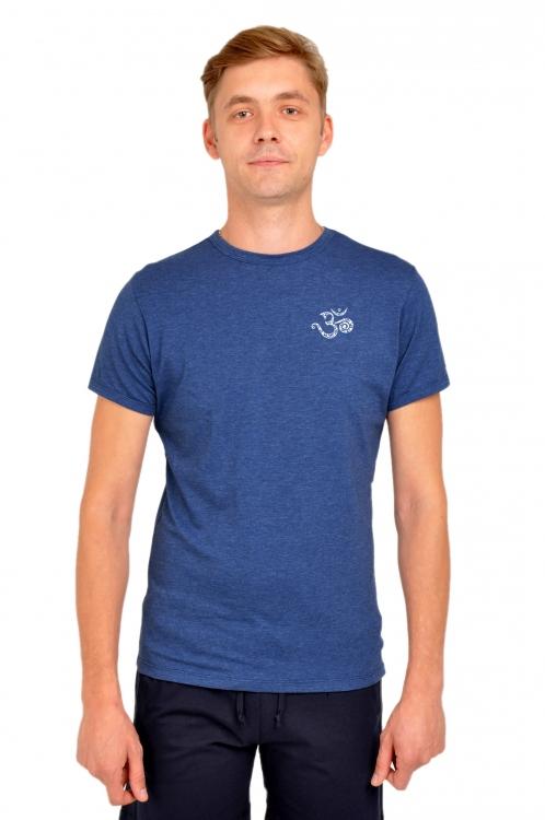 Футболка мужская темно-синий меланж Ом футболка мужская neil barrett fa01 2015