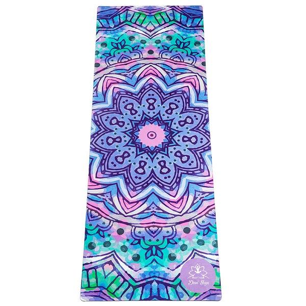 Коврик для йоги Акварель DY ( Devi Yoga 185 см 2,2 кг 3.5 мм 61см ) коврик для йоги 173х61х0 7 см серый hkem1205 07 grey