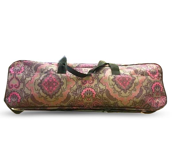 Сумка для йога-коврика Гаруда, лотос на сером (19 см, 70 см, серый, 17 см)