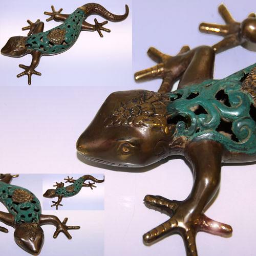 Подставка ящерица 29 см (зеленый)