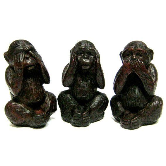 Статуэтка три обезьяны 7,5см, пластик pui hing 350mg 30 3