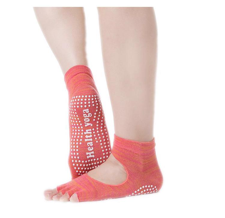Носки с открытыми пальчиками Health Рамайога (оранжевый) носочки с вырезом и открытыми пальчиками для йоги рамайога 0 1 кг розовый