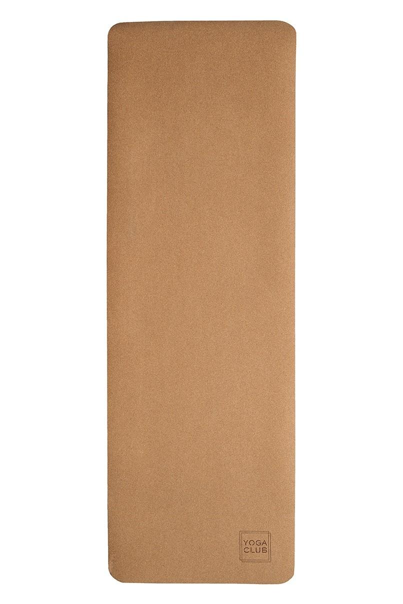 Коврик для йоги Лайт YC из пробки и тпе (0.9 кг, 185 см, 4.5 мм, бежевый, 61см) цена