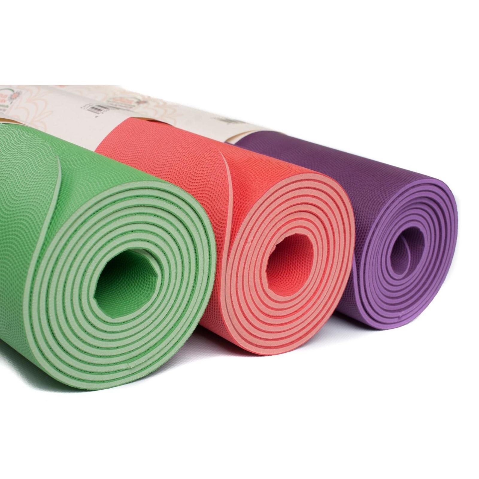 Коврик для йоги EcoPro Diamond 6мм из каучука  (2.5 кг, 185 см, 6 мм, фиолетовый, 60см)