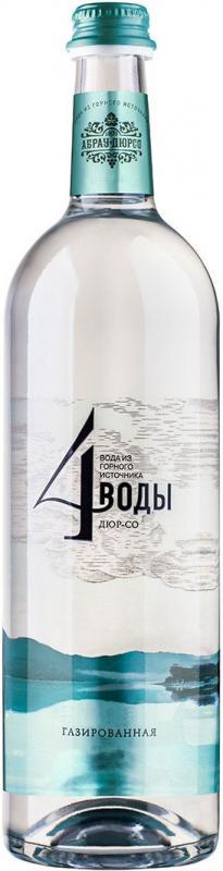 Питьевая вода артезианская, газированная, 4 воды. Дюр-со (375 мл) selters вода минеральная газированная 1 л