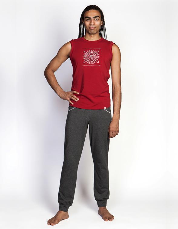 Штаны мужские пауэр YogaDress (0,3 кг, M (48), серый \ антрацит-меланж) леггинсы гоа yogadress m 48 светло фиолетовый