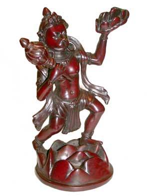 Статуя Хануман танцующий 19 см, черный (19 см)