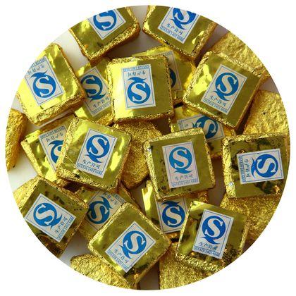 Пуэр прессованный шу золотой квадратик поштучно 6г чай пуэр 100