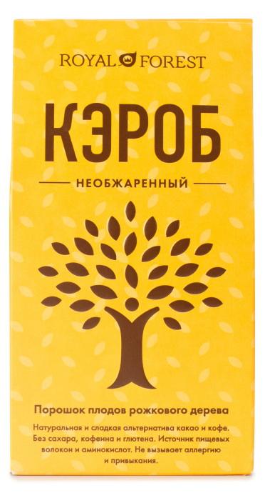 Кэроб необжаренный Royal Forest (200 г) рязанские просторы клетчатка топинамбура 200 г