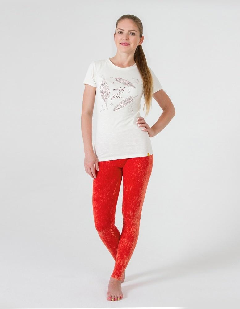 Футболка женская Wild & Free YogaDress (0,3 кг, S (42-44), белый \ молочный) женская одежда для спорта