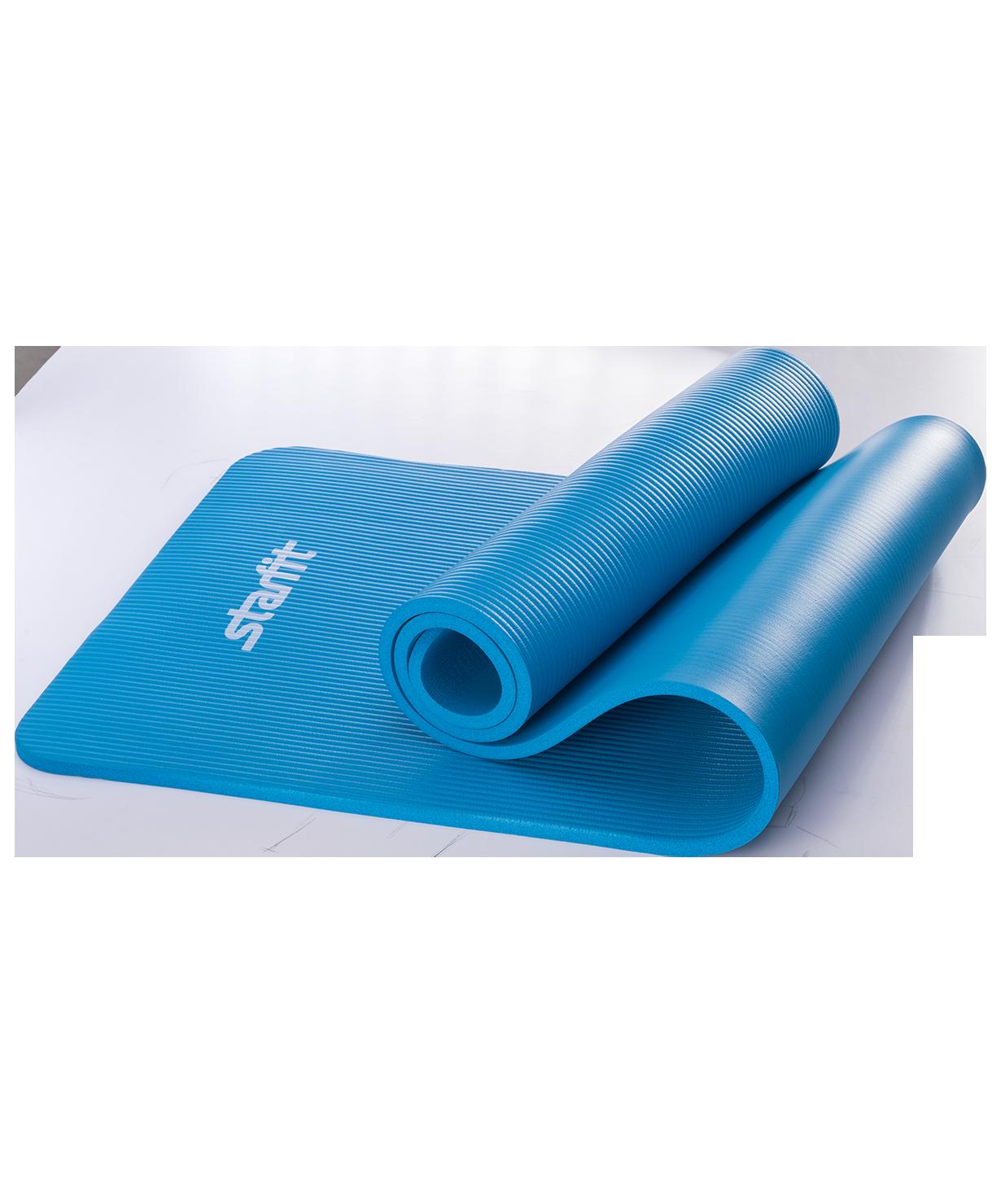 Коврик для йоги и фитнеса Yoga Star 1,2 см (183 см, 1,2 см, синий, 60 см)