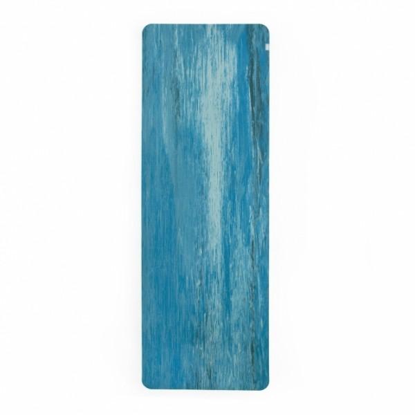 Коврик для йоги Samurai Marbled 4мм из каучука (2,3 кг, 185 см, 4 мм, синий, 60см)