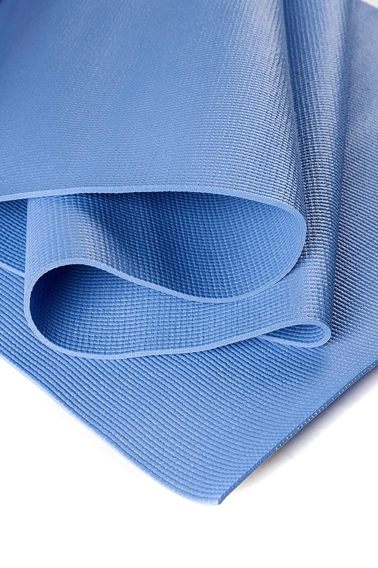 Коврик для йоги Асана Стандарт 4мм (1 кг, 185 см, 4 мм, синий, 60см) коврик для йоги асана стандарт 4мм 1 кг 185 см 4 мм фиолетовый 60см