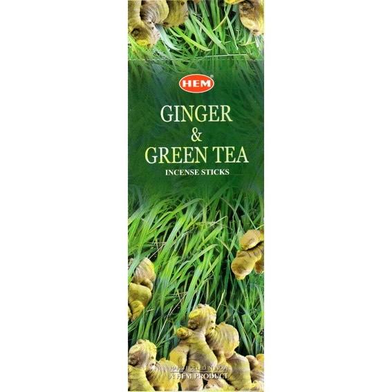 Аромапалочки ginger green tea hexa HEM (20 г) аромапалочки имбирь ginger hem 20 г