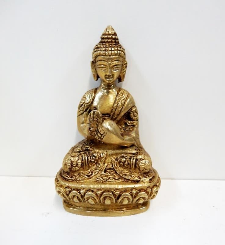 Статуэтка Будда бронза 5,5см (Нет, 0,05 кг, 5,5 см) буддийская иконография будды божества учителя буддийская иконография будды божества учителя