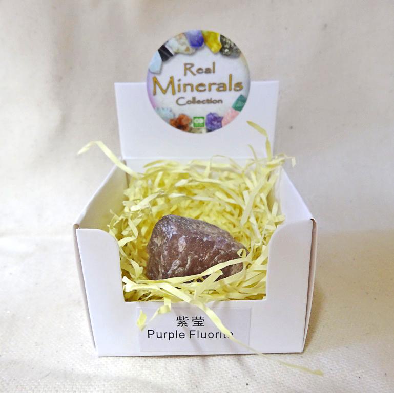 Флюорит фиолетовый минерал/камень в коробочке Real Minerals Collection (Флюорит фиолетовый)