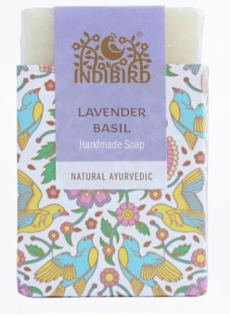Аюрведическое мыло лаванда базилик Indibird (100 г) цена в Москве и Питере