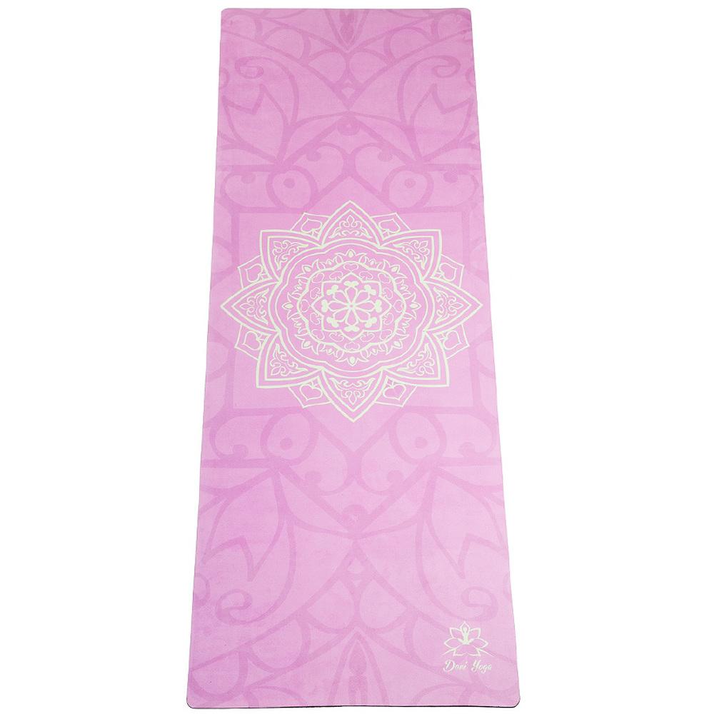 цена на Коврик для йоги Мандала DY из микрофибры и каучука (2,2 кг, 173 см, 3.5 мм, розовый, 60 см)