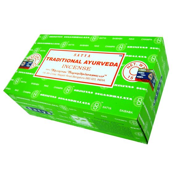 Благовония традиционная аюрведа traditional ayurveda Satya серия incense (0,05 кг, 15 г, зеленый) благовония аджаро ajaro satya 15 г