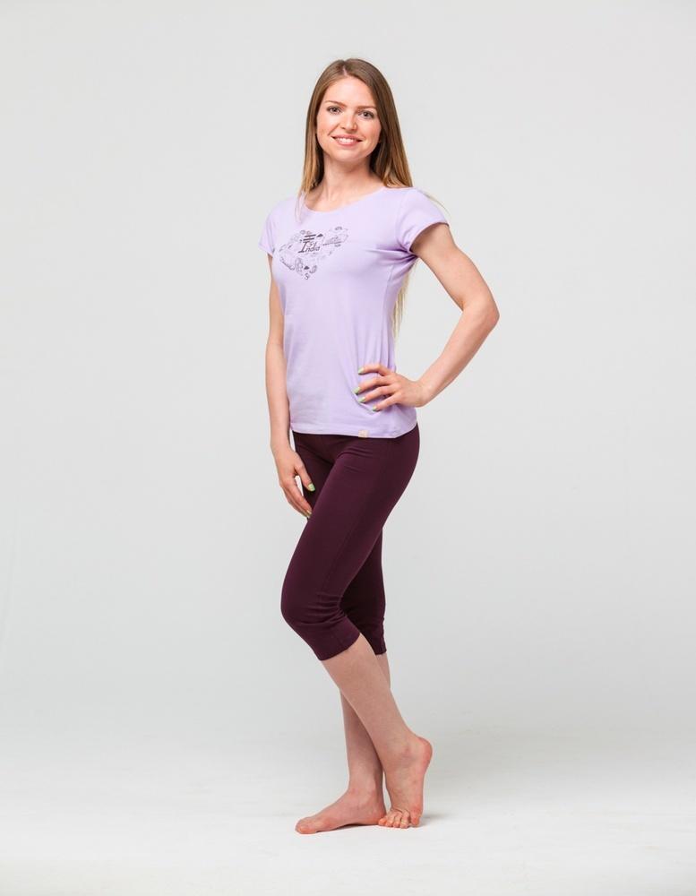 Футболка женская Индия YogaDress (0,3 кг, XL (48-50), сиреневый) женская одежда для спорта