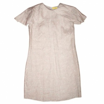 Платье Cape Dress из органического льна и блесток-слюды Chillife. топ muse из синего льна chillife да