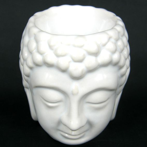 цена Аромалампа Будда керамика 8см (0,3 кг, белый) онлайн в 2017 году